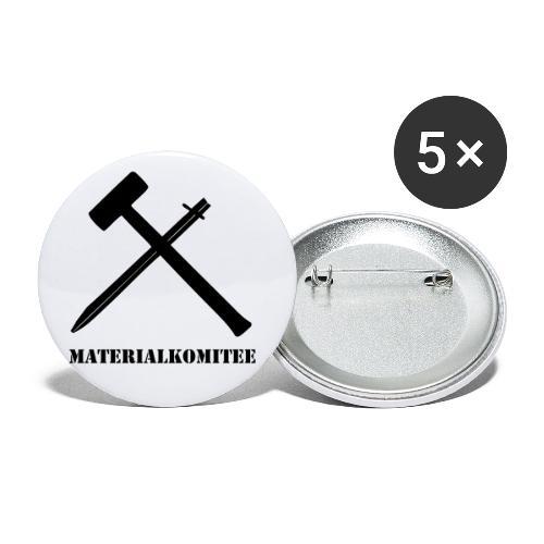Materialkomitee - Buttons klein 25 mm (5er Pack)