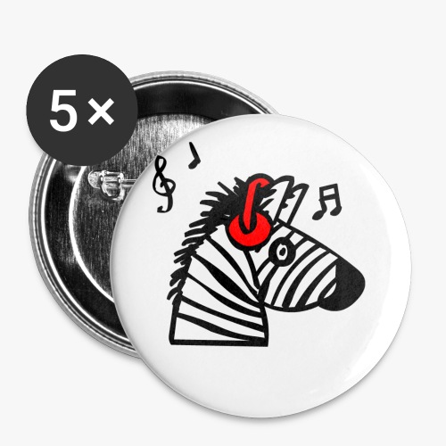 Zebra Music - Buttons small 1''/25 mm (5-pack)