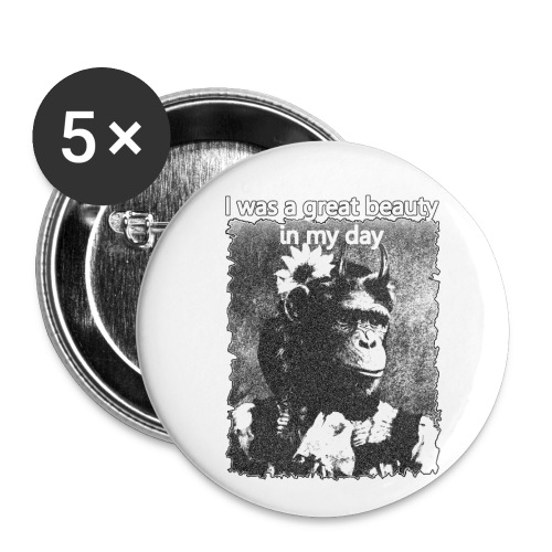 Funny Chimpanzee Old Age Joke Design - Buttons small 1''/25 mm (5-pack)