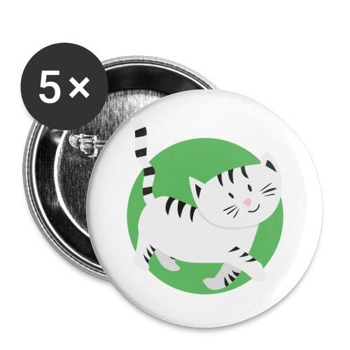 Katze Mimi Miau - Buttons klein 25 mm (5er Pack)