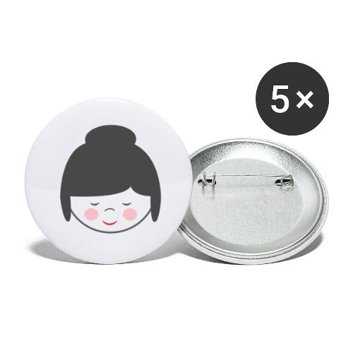 Doctora Retail Smiling - Paquete de 5 chapas pequeñas (25 mm)