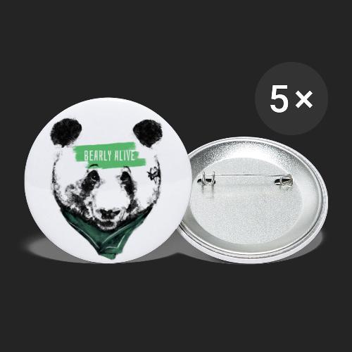 Panda bearly alive - Lot de 5 petits badges (25 mm)