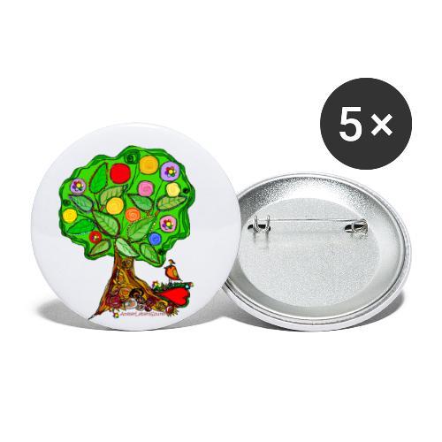LebensBaum - Buttons klein 25 mm (5er Pack)