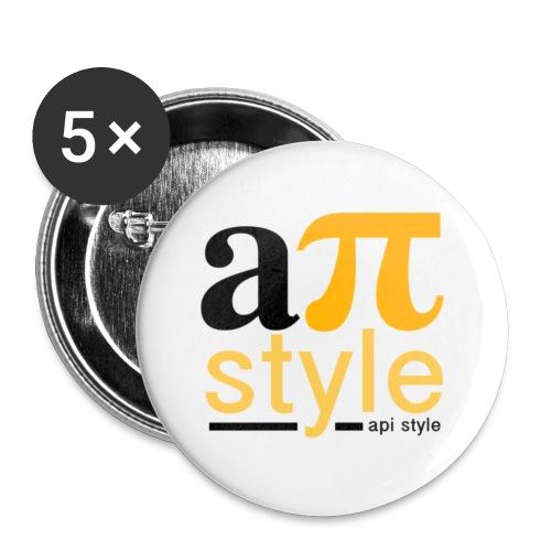 Apistyle logo 1 jaune png - Lot de 5 petits badges (25 mm)
