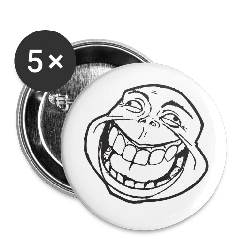 meme face not really by xarity d4es290 png - Buttons klein 25 mm (5-pack)