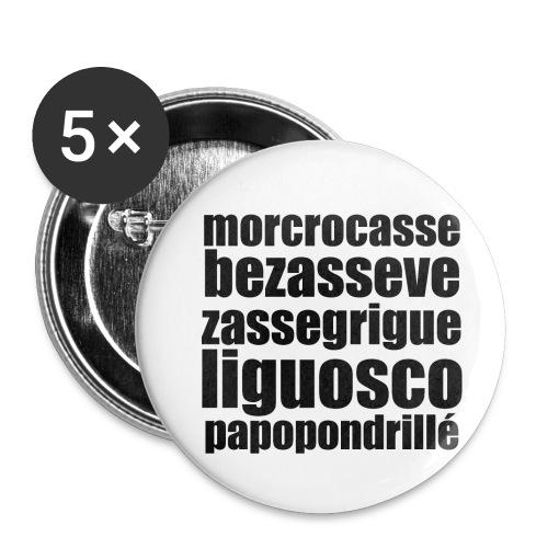 03_morcrocas - Lot de 5 petits badges (25 mm)
