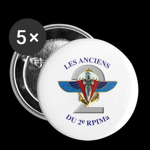 ANCIENS2 logo texte bleu detoure BD png - Lot de 5 petits badges (25 mm)