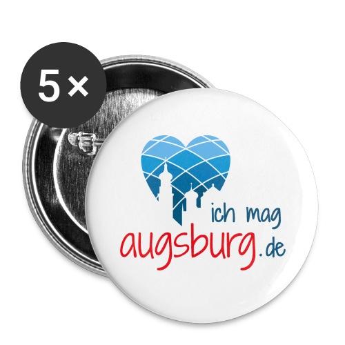 ichmagaugsburg logo - Buttons klein 25 mm (5er Pack)