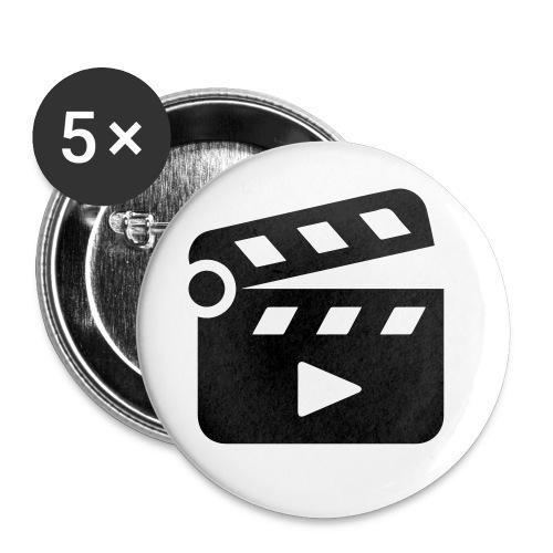 Klappe - Buttons klein 25 mm (5er Pack)