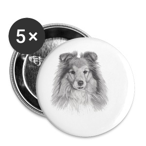 shetland sheepdog sheltie - Buttons/Badges lille, 25 mm