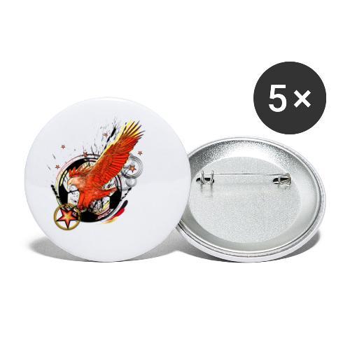 Adler mit Deutschland Stern - Buttons klein 25 mm (5er Pack)