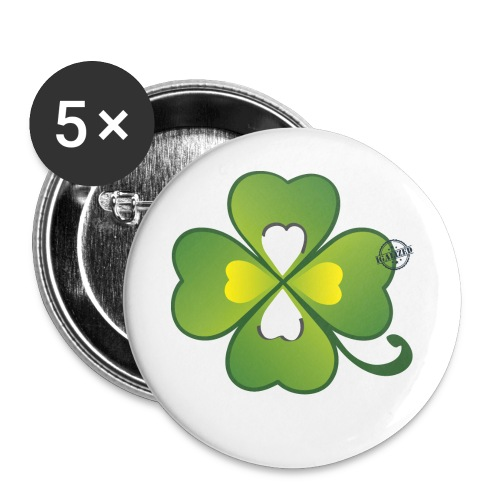 Clover - Symbols of Happiness - Buttons small 1''/25 mm (5-pack)