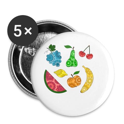 Obstsalat - Buttons klein 25 mm (5er Pack)