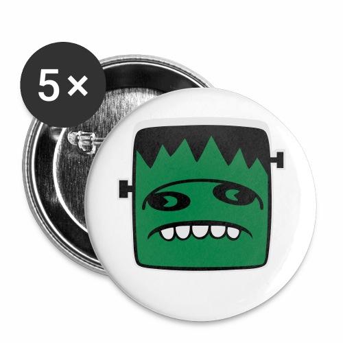 Fonster pur weißer Rand - Buttons klein 25 mm (5er Pack)