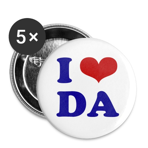 Button I Love DA - Buttons klein 25 mm (5er Pack)