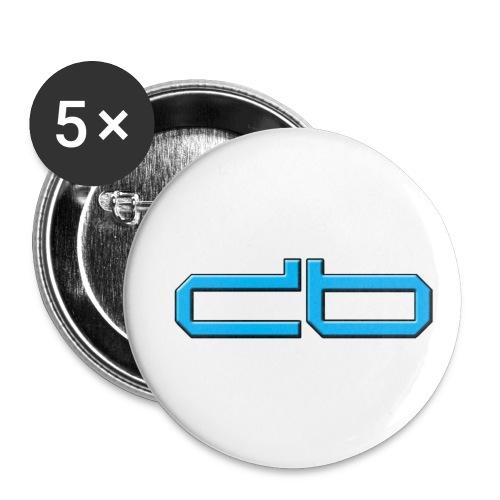 DaBros Logo - Buttons klein 25 mm (5er Pack)