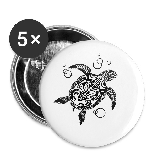 Watchful Turtle - Buttons small 1''/25 mm (5-pack)