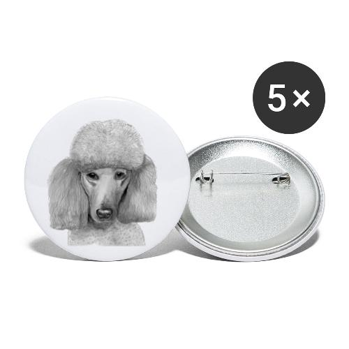 storpudel - standardpoodle abricot - Buttons/Badges lille, 25 mm (5-pack)