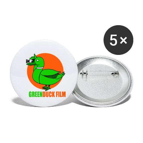 Greenduck Film Orange Sun Logo - Buttons/Badges lille, 25 mm (5-pack)