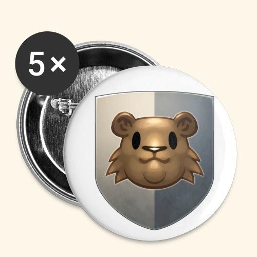 marmottes blason HD - Lot de 5 petits badges (25 mm)