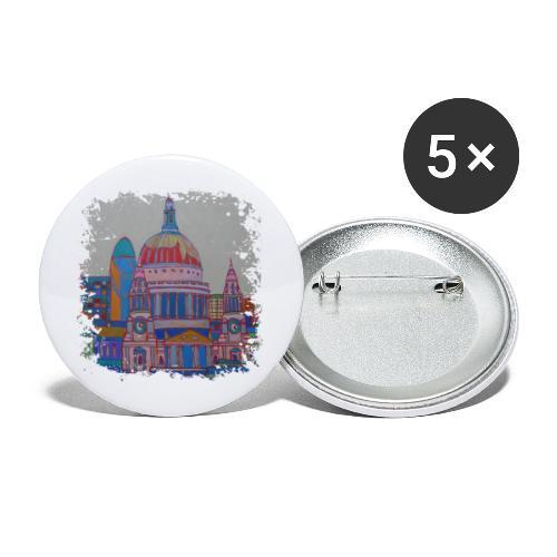 London - Buttons klein 25 mm (5er Pack)