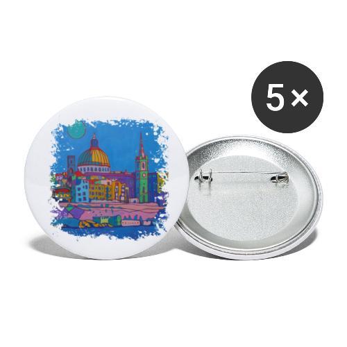 Malta - Buttons klein 25 mm (5er Pack)