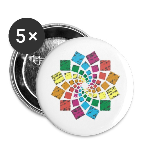 Squares Flower - Buttons klein 25 mm