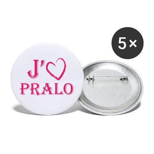 j aime pralo - Lot de 5 petits badges (25 mm)