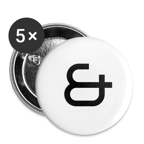 & - Lot de 5 petits badges (25 mm)