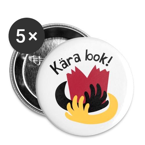 KÄRA BOK! - Små knappar 25 mm (5-pack)