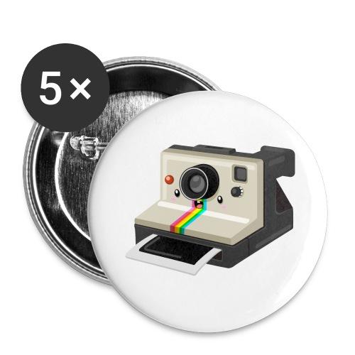Polaroid 1000 kawaii - Lot de 5 petits badges (25 mm)