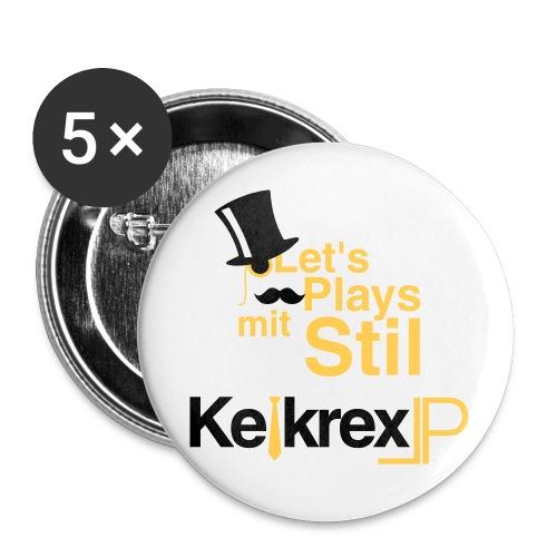 KelkrexLP Let s Plays mit Stil schwarz - Buttons klein 25 mm (5er Pack)