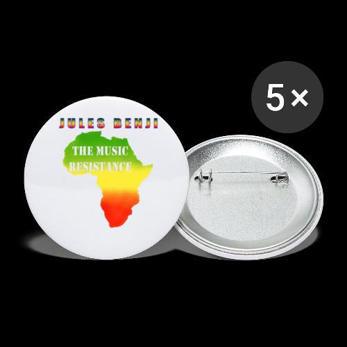 JULES BENJI & MUSIC RESISTANCE africa design - Buttons small 1''/25 mm (5-pack)
