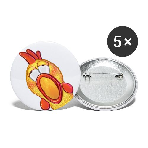 Gummihuhn Gasm - Buttons klein 25 mm (5er Pack)