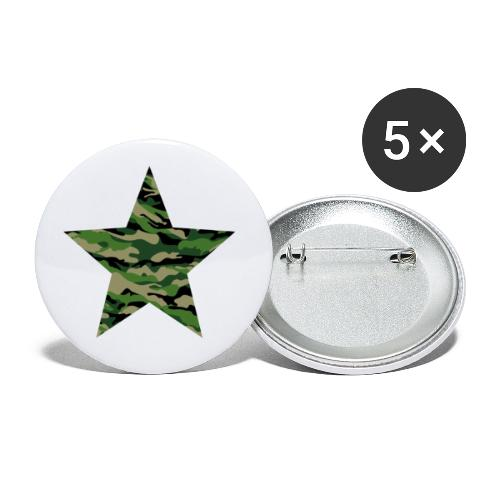 CamouflageStern - Buttons klein 25 mm (5er Pack)