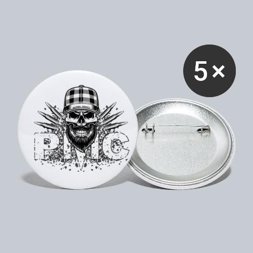 PMC Skull white - Buttons klein 25 mm (5er Pack)
