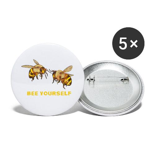 Bee yourself. Voor bijenliefhebbers, imkers. - Buttons klein 25 mm (5-pack)