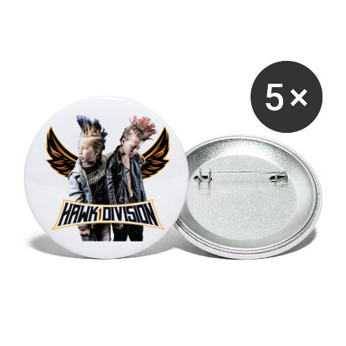 Hawk Division - Buttons small 1''/25 mm (5-pack)