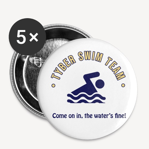 TYBER SWIM TEAM - Buttons small 1''/25 mm (5-pack)