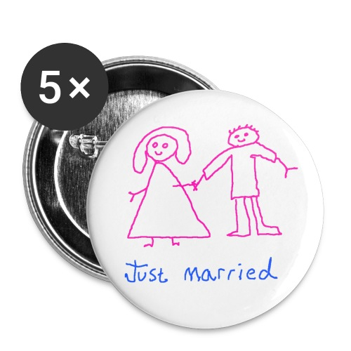 justmarried - Buttons small 1''/25 mm (5-pack)