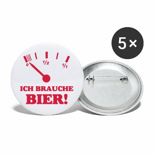 Bier Tankanzeige - Buttons klein 25 mm (5er Pack)