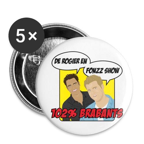 rogierenfonzzshow geel 3 - Buttons klein 25 mm (5-pack)