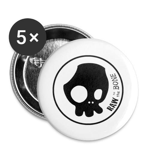 Logo 2 0 Cara y Nombre sin fondo Negro png - Paquete de 5 chapas pequeñas (25 mm)