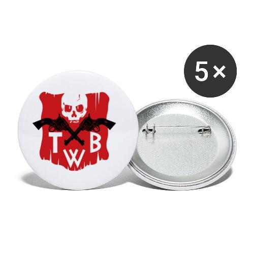 TWB logo - Confezione da 5 spille piccole (25 mm)