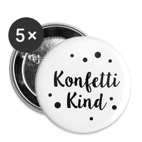 Konfettikind - Buttons klein 25 mm (5er Pack)
