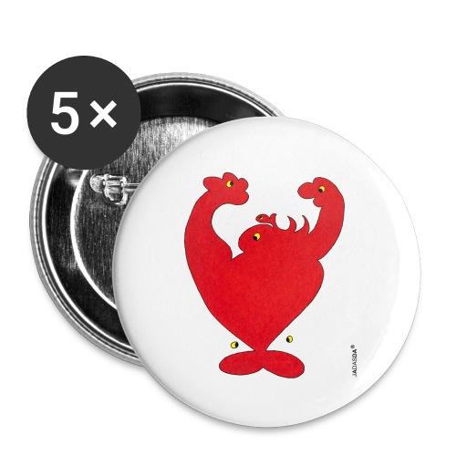 Herz-Jada RZ_kontur - Buttons klein 25 mm (5er Pack)