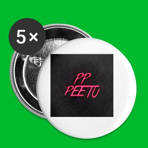 Ppppeetu logo - Rintamerkit pienet 25 mm (5kpl pakkauksessa)
