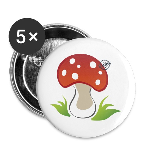 Mushroom - Symbols of Happiness - Buttons small 1''/25 mm (5-pack)