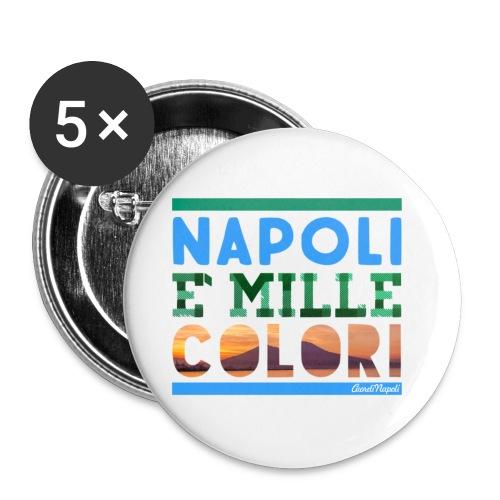Napoli è mille colori - Confezione da 5 spille piccole (25 mm)