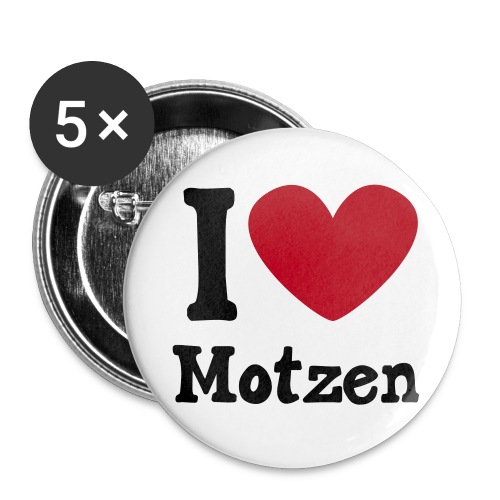 I Heart Motzen - Buttons klein 25 mm (5er Pack)